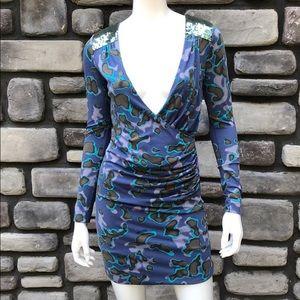 Faux Wrap Body-Con Dress by Who's Who EUC sz S